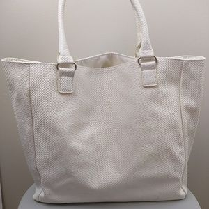 Neiman Marcus Bags - Neiman Marcus Faux Snake Python Large Tote Bag